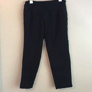 A pea in the pod black skinny ankle pant